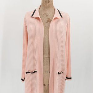 Misook open Front Ribbed Cardigan